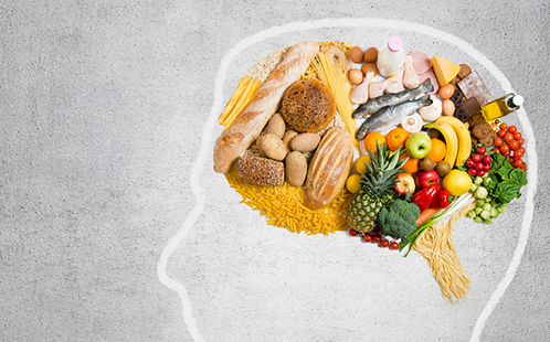Visual representation of how food impacts the brain