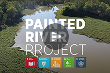 Cover image of painted river video clip