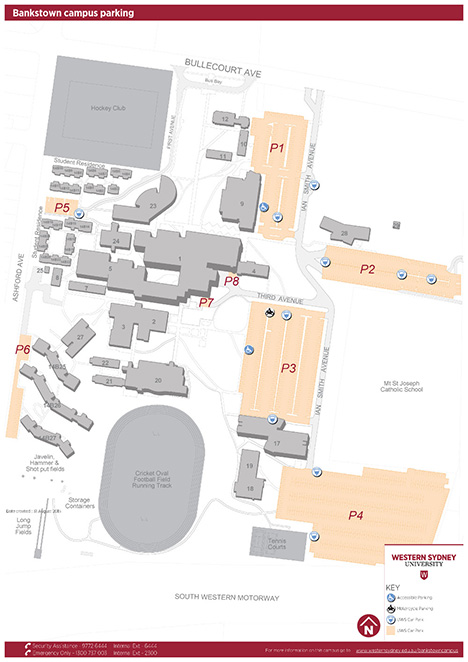 Bankstown campus parking map
