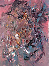 Chen Pings painting: Beasts, Complex Emotions, 2012.