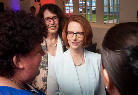 Prime Minister Julia Gillard and Vice-Chancellor Professor Janice Reid