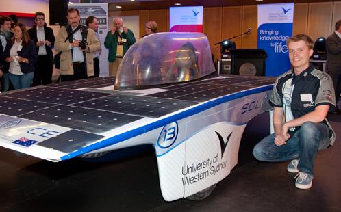 UWS Solar Car launch