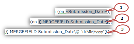 Date Correction in Word Mail Merge | Western Sydney University