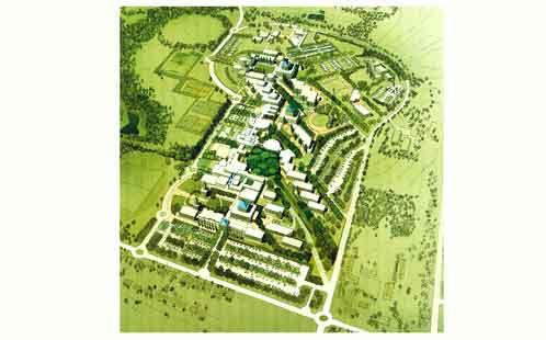 Artist's impression of Kingswood Campus, 1990 (Ref: MP-1477)