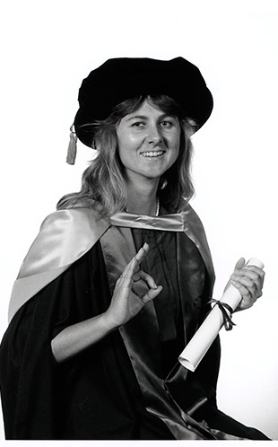 Dr Sharon Armstrong - First PhD graduate from the University of Western Sydney 1993 (AI-20063)