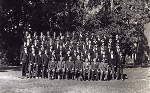 Intercollegiate sporting teams and the College Principals [Hawkesbury Agricultural College (HAC)] 1969 (P1296)