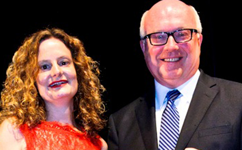 Felicity Castagna and George Brandis