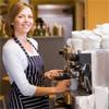 A female barrister making a coffee