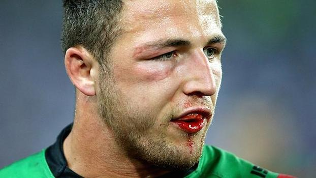 Close up image of Sam Burgess