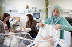 Midwifery Students in Labs