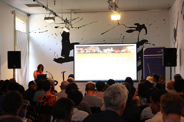 Audience seated at Chinatown symposium