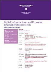 Thumbnail image of the Digital Infrastructures symposium program.