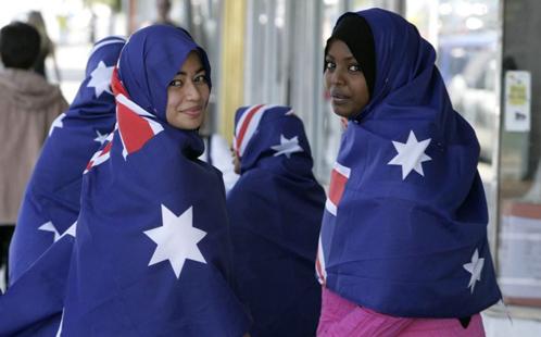 Women in flags