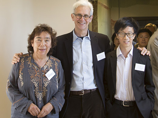 Nicholas Jose and Alexis Wright with Chinese critic Chen Hong