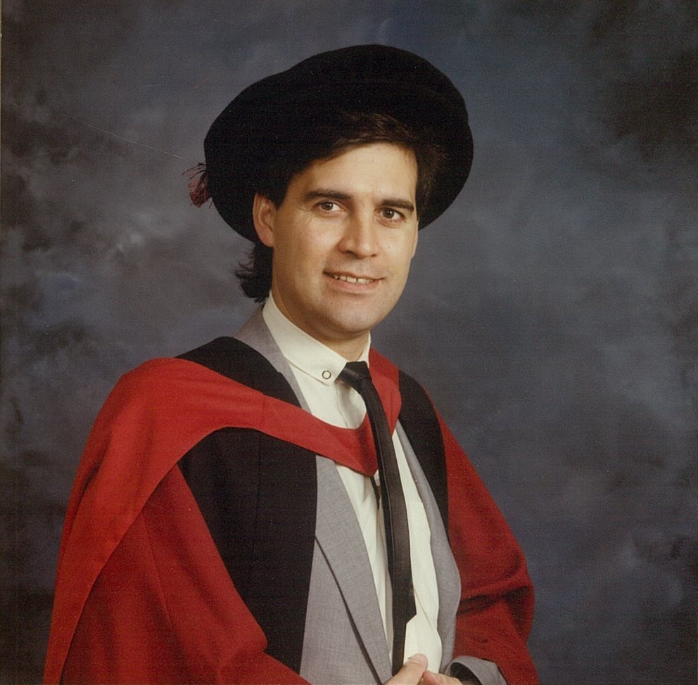 Professor David Rowe with PhD