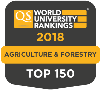 Quacarelli Symonds Rankings Agriculture and Forestry Top 150