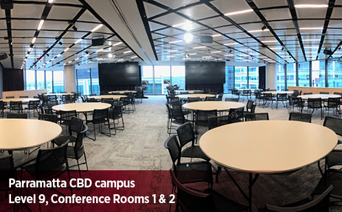 Parramatta CBD Campus, Level 9, Conference Rooms 1 and 2