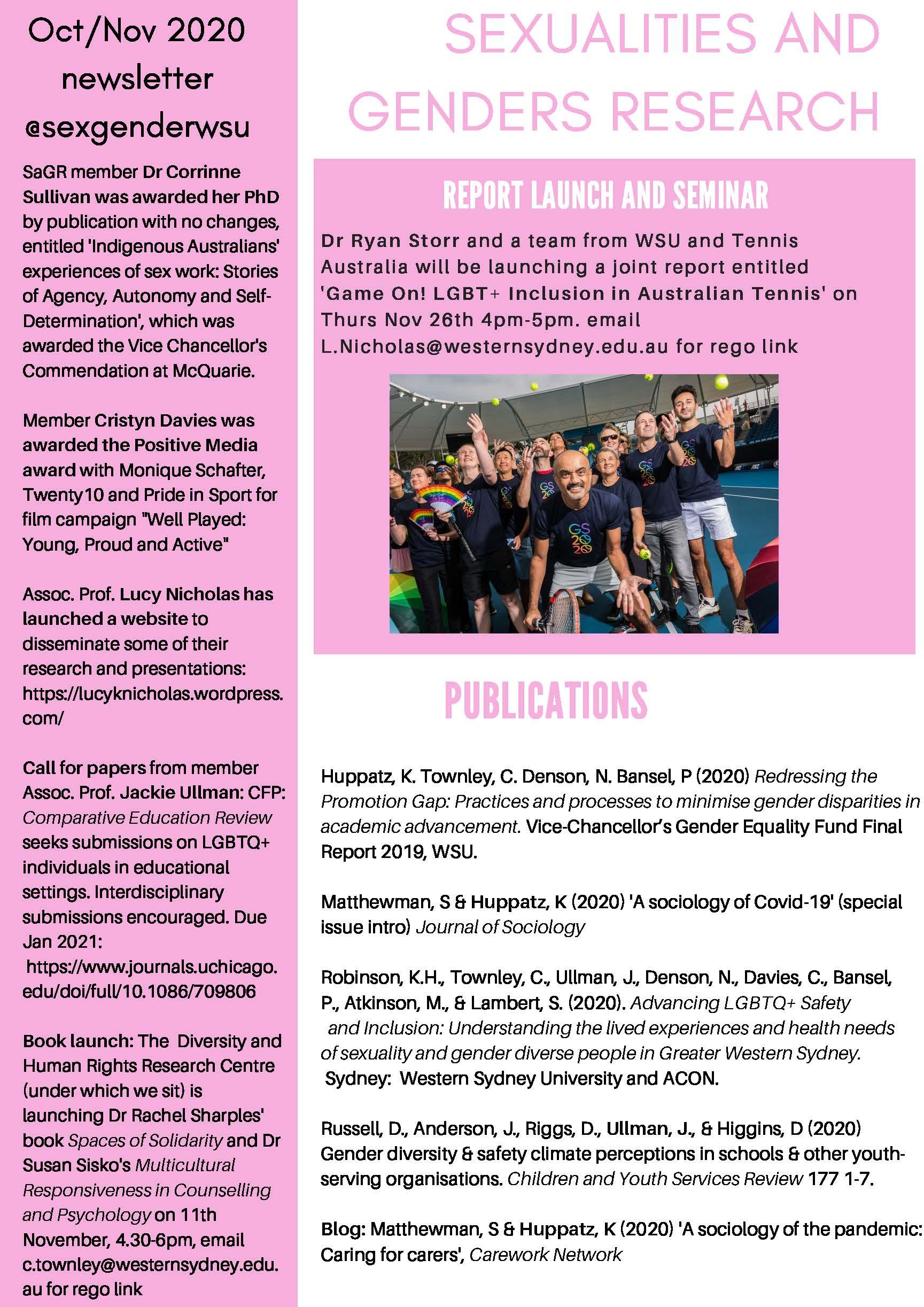OctNov 2020 SAGR Newsletter