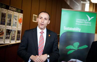 David Bradbury speaking at the launch event