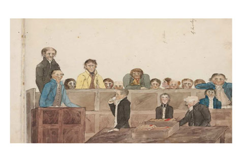The 'Philo Free' civil libel trial, 1 December 1817