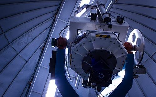 Observatory Telescope Inside