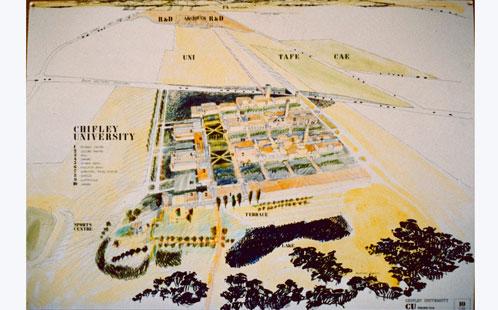 Architect's Impression of Chifley University, c.1988