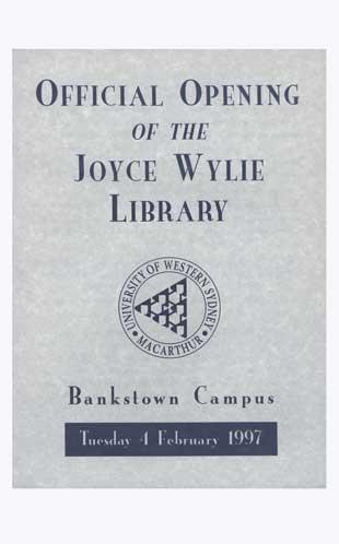 Bankstown campus library opening program 1997