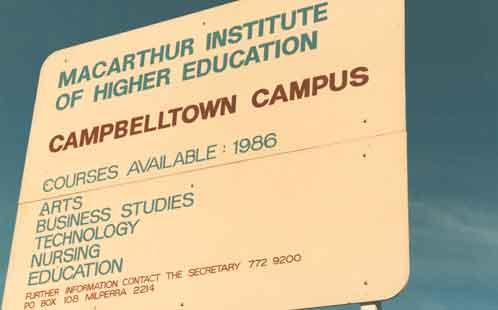 Campbelltown campus poster