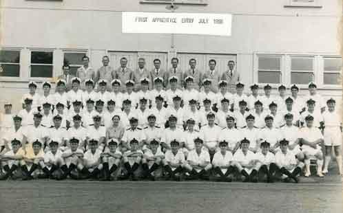 First apprentices HMAS Nirimba July 1956