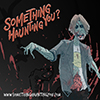 An illustration of a zombie with the words 'Something haunting you?'