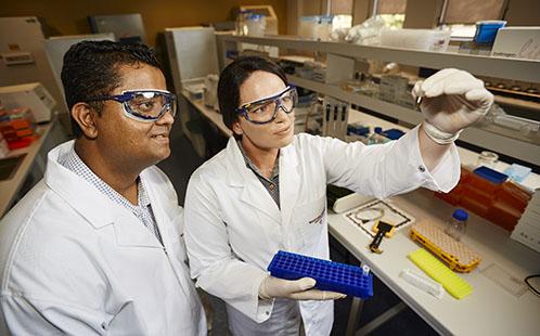 Edward Narayan and Danielle Webster