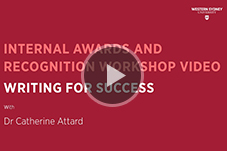 Awards Workshop Video