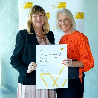 Professor Deborah Sweeney and Libby Lyons, Director Workplace Gender Equality Agency