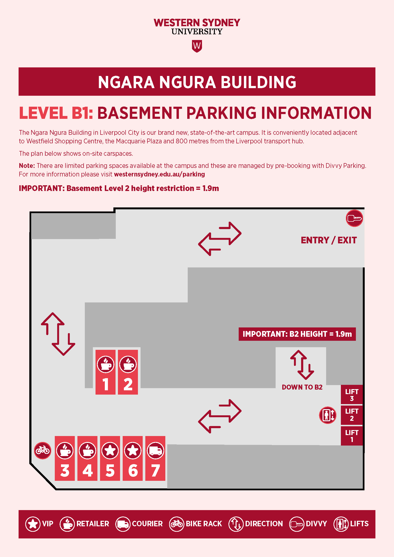 Liverpool campus parking map