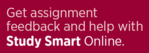 Get assignment feedback and help with Study Smart Online