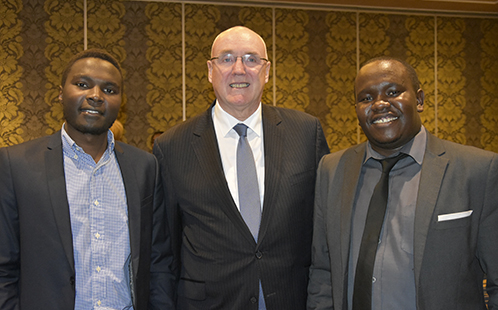 Vice-Chancellor Professor Barney Glover meets with African universities