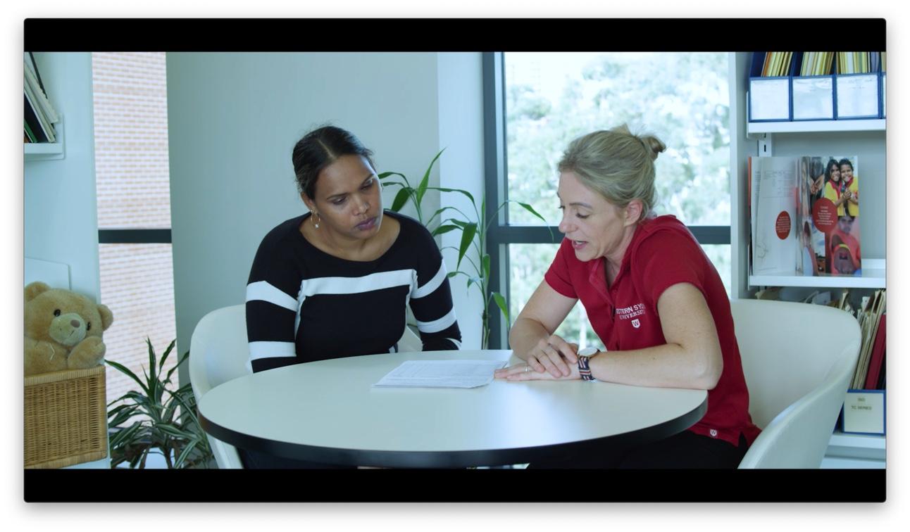 WSU researchers Jaidine Fejo and Chantelle Khamchuang do the ERLI checklist