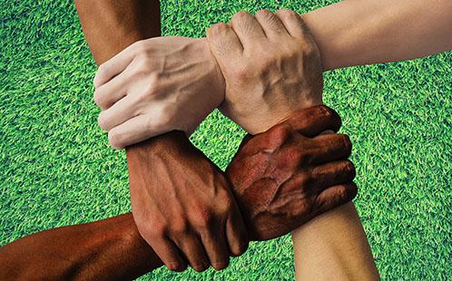 Interconnected hands