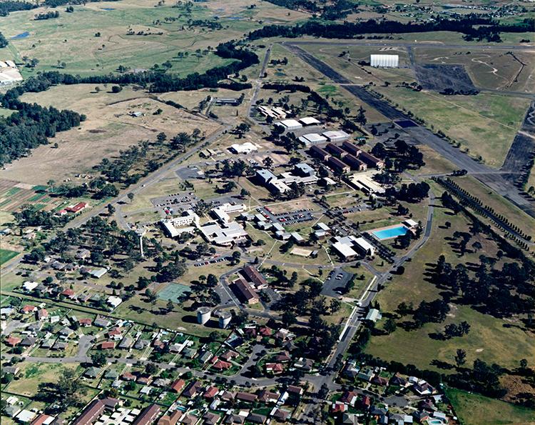 Aerial view of the Blacktown campus University of Western Sydney - Hawkesbury Blacktown Campus