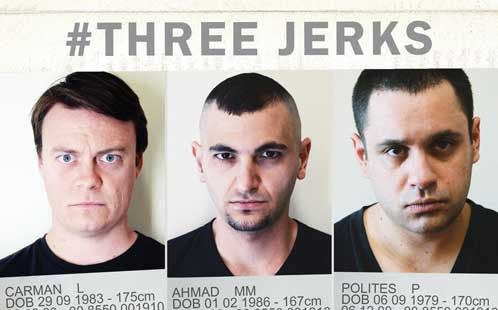 Flyer for #Three Jerks