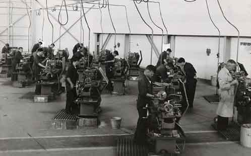 General view of the machine shop 1950s