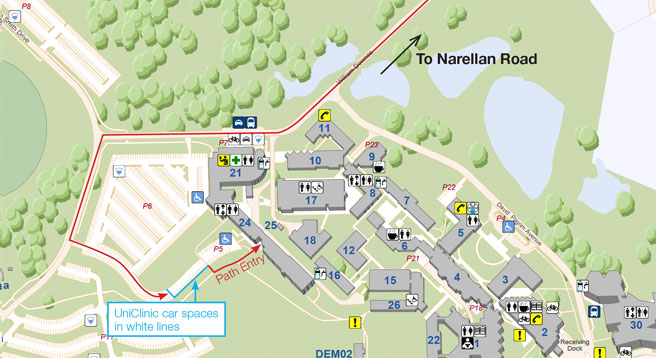 Uws Campbelltown Map Uws Campus Map | International Map