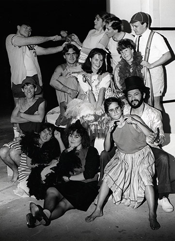 Performing Arts Students in Costume - Continuing Education West (CEW) 1991 (P2674)