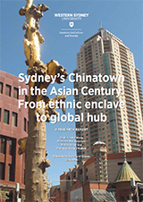 Cover of the Sydney's Chinatown in the Asian Century report showing city buildings