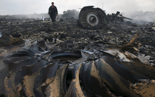 MH 17 wreckage
