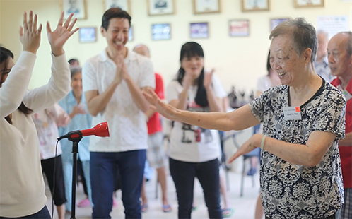 Dementia patients - Music dance