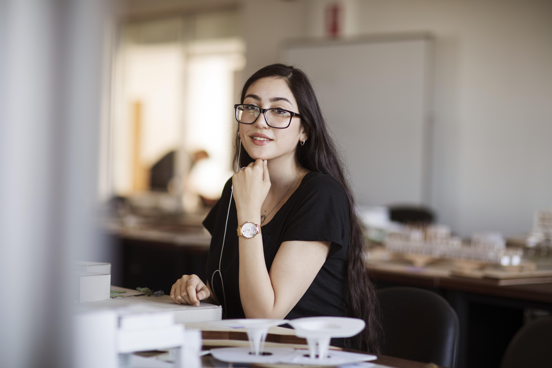 female engineering student
