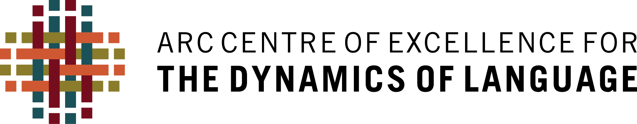 ARC Centre of Excellence for the Dynamics of Language logo