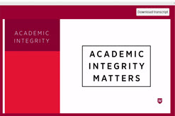 Academic Integrity Module start screen
