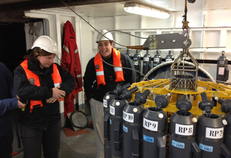 Graeme and Lucy with the CTD